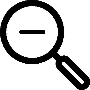 Magnifier Minus free icon