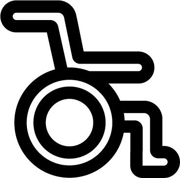 Wheelchair free icon