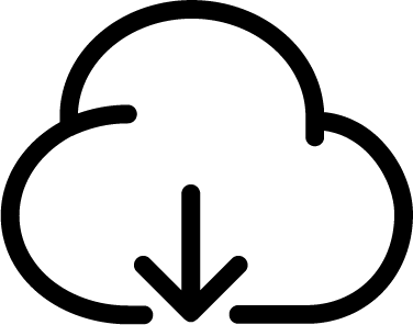 Cloud Download free icon