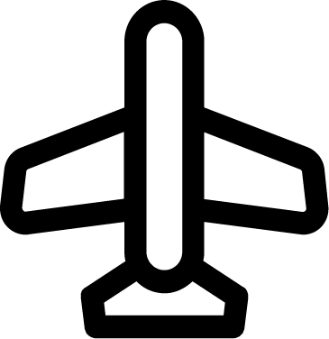Airplane free icon