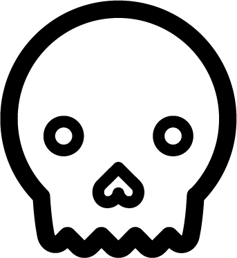 Skull free icon